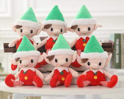 Soft Plush Christmas Naughty Elf