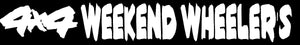 24 inch 4x4 Weekend Wheeler's Sticker (Large)