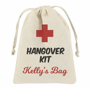 Personalised Hangover Bag with Drawstring - Small or Medium