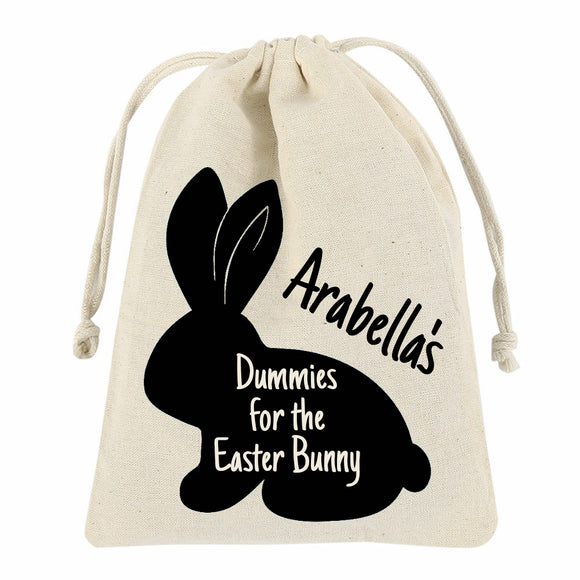 Personalised Dummies for the Easter Bunny Bag with Drawstring - Small or Medium