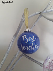 Best Teacher Christmas Bauble