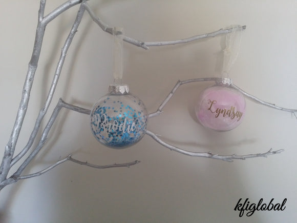 Personalised Christmas Bauble - Round
