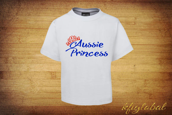 Aussie Princess Tee - Childrens