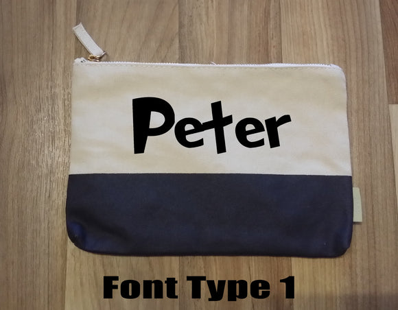 Personalised Pencil Case - two tone