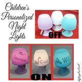 Children's Personalised Mushroom Night Light