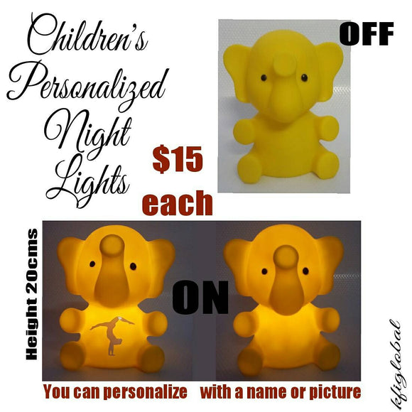 Personalised Elephant Night Light