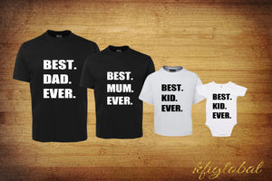 The Best Family Shirt Set