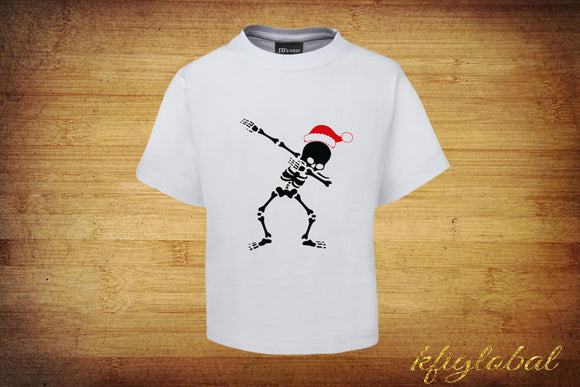 Christmas Skeleton Dab Shirt - adults