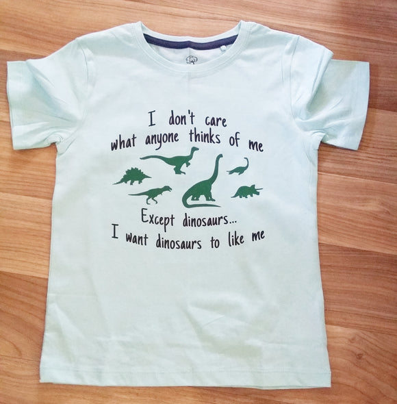 I want Dinosaurs to like me Shirt - childrens