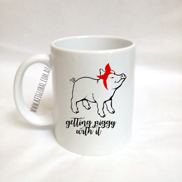 Getting Piggy with it Mug Design