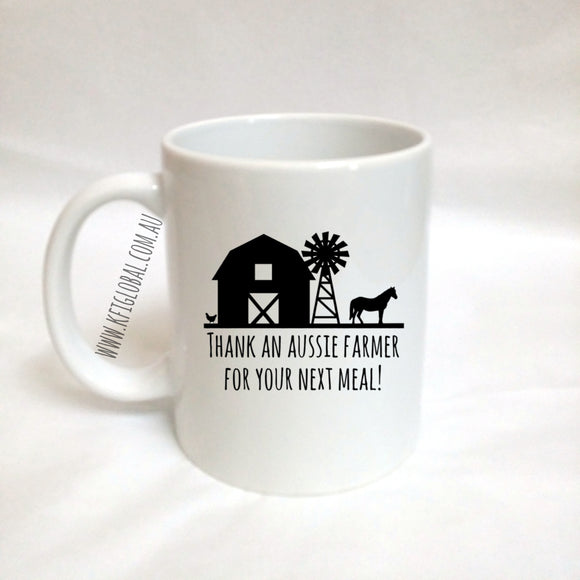 Thank an Aussie Farmer Mug Design