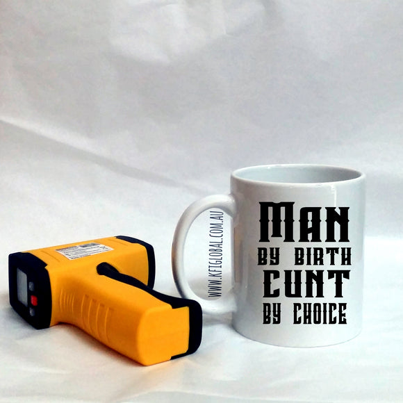 Man By Birth Design Mug