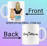 Personalised Pet and friend Design Mug - with female - pet mum