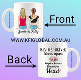 Personalised Besties Forever Design Mug