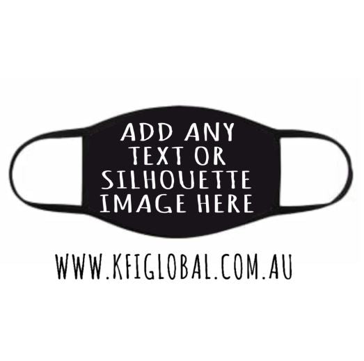Custom Design Black 3 layer Cotton Mask