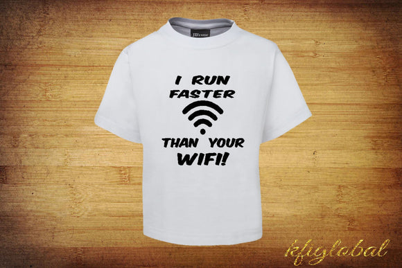I run faster than your wifi Short Sleeve T-Shirt