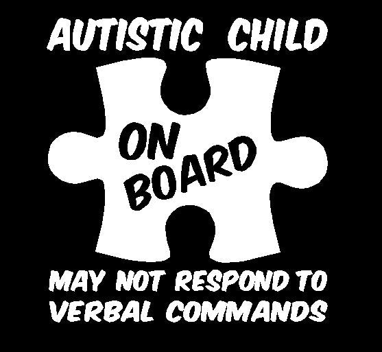 Autistic Child on Board Sticker - Autism Awareness