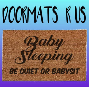 Baby Sleeping Doormat - Doormats R Us