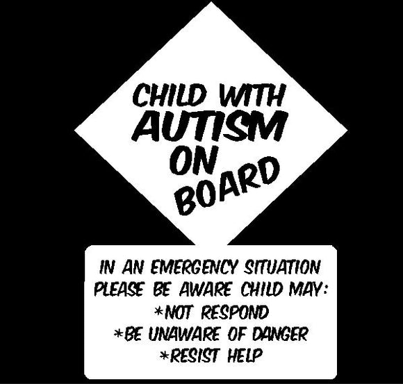 Child with Autism on Board Sticker - Autism Awareness