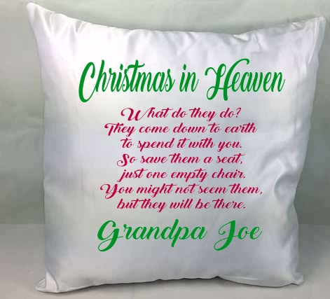 Personalised Christmas cushion / Pillow - Christmas in Heaven