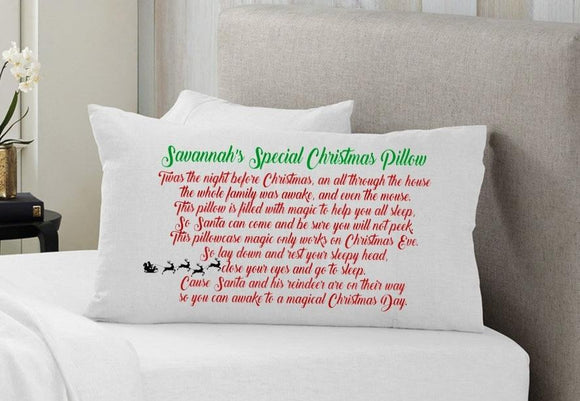 Personalised Santa's magic Pillowcase