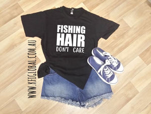 Fishing Hair Don't Care Design