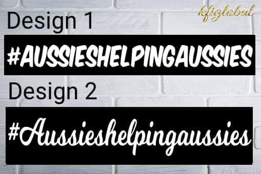 #Aussieshelpingaussies Sticker