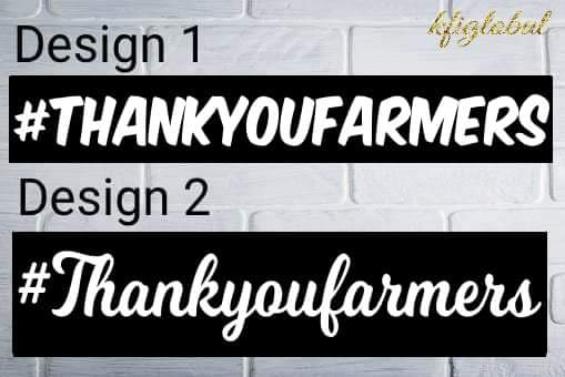 #Thankyoufarmers Sticker