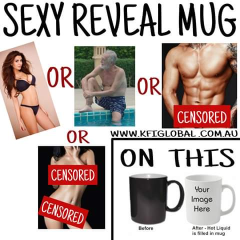 Sexy reveal Mug - Hot to cold colour changing mug