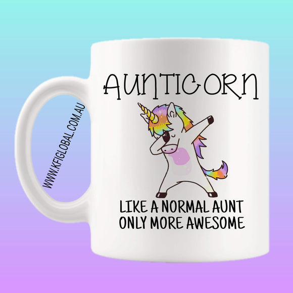 Aunticorn Mug Design