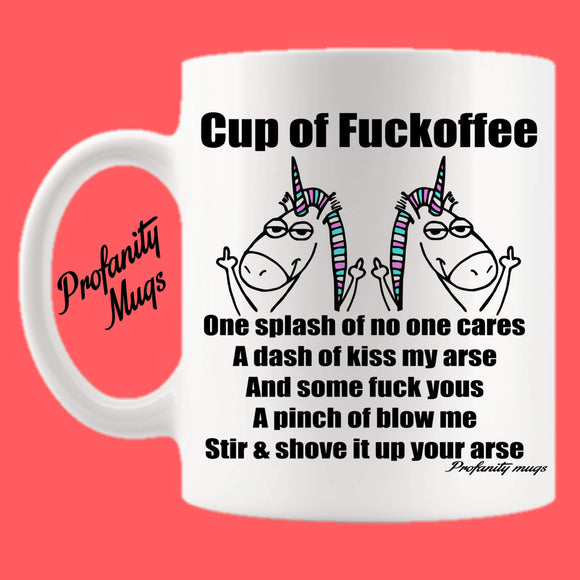 Cup of Fuckoffee Mug Design - Profanity Mugs