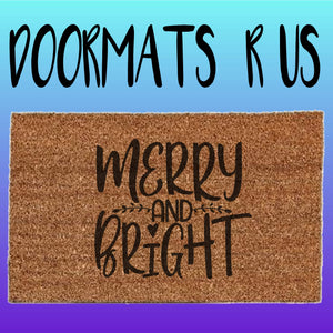 Merry and Bright Doormat - Doormats R Us