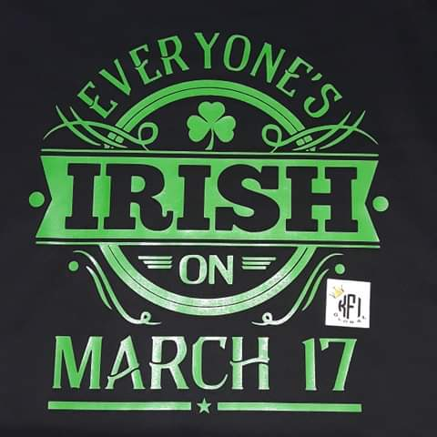 Everyone's Irish on March 17 Design
