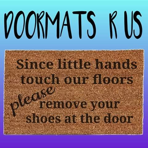 Since little hands touch our floors Doormat - Doormats R Us