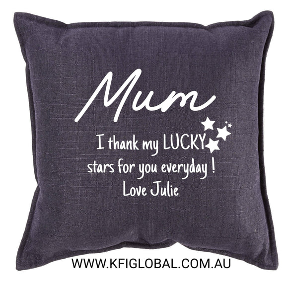 I thank my lucky stars cushion - Pillow