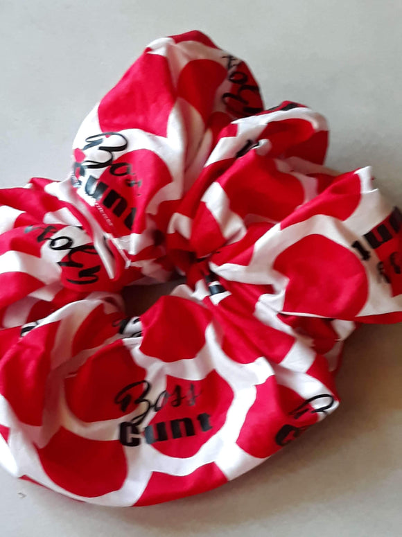 Red and white boss cunt Wristie - XL Scrunchie