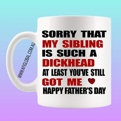 Sorry that my sibling Mug Design