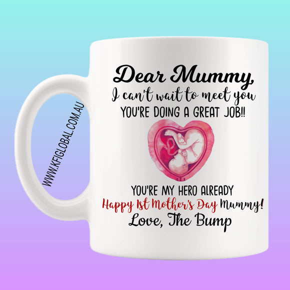 I can't wait to meet you Mug Design - Mother's Day