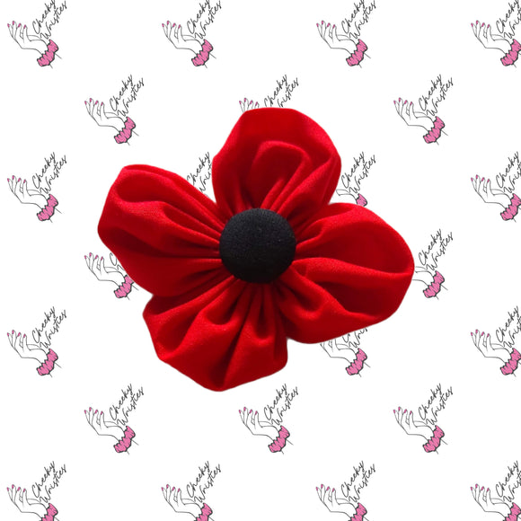 Poppy Petal Flower Clip