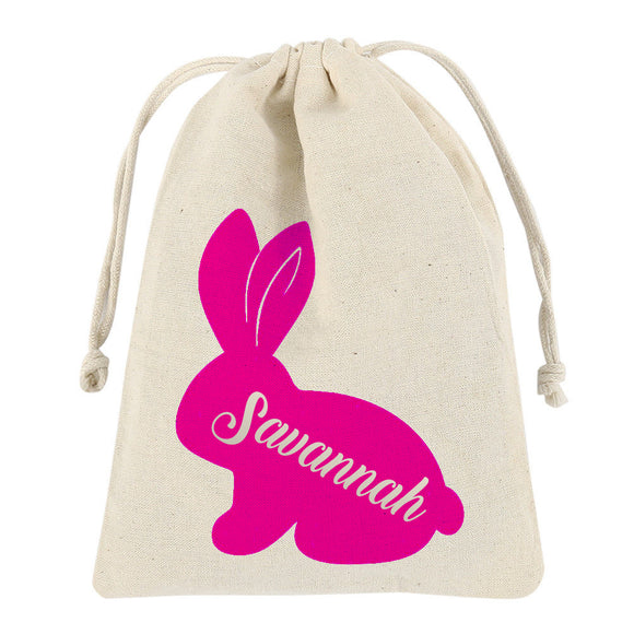 Personalised Easter Bag with Drawstring - Small or Medium
