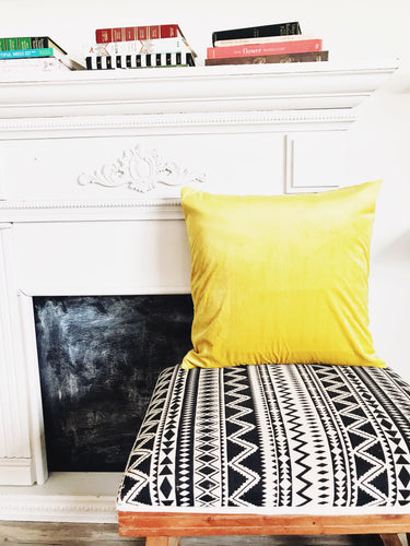Luxury Velvet Pillow Case ~ Sunshine Yellow