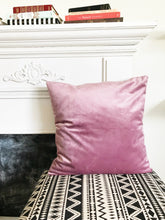 Lux Velvet Pillow Cover ~ Mauve Pink