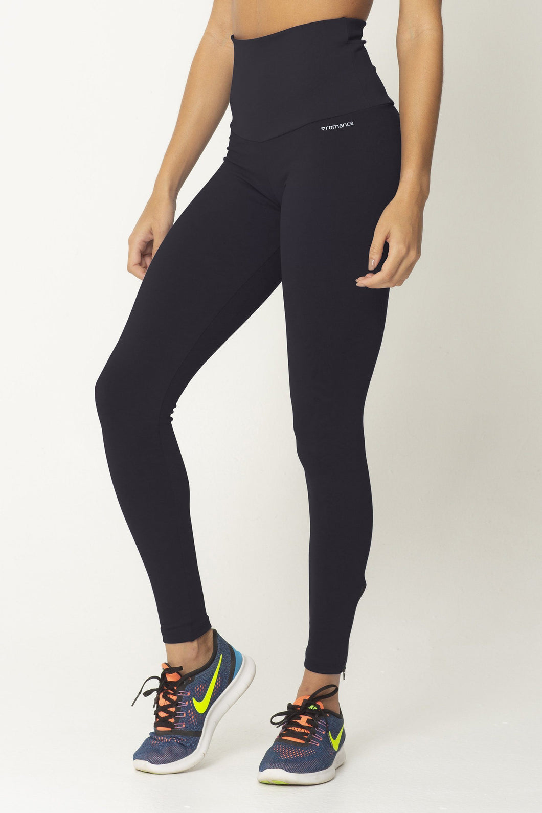 Black Zip Up Detox High Up Legging