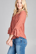 Darling Bell Sleeve Chiffon Top - Rose
