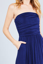 Bandeau Top Maxi Dress - Navy