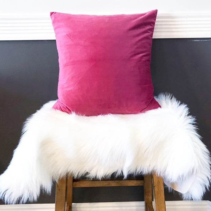 Luxury Velvet Pillow Case ~ Magenta