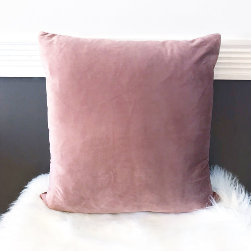 Luxury Velvet Pillow Cover ~ Smoky Mauve