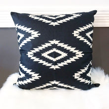 Boho Tribal Pillow Cover ~ Black/White Diamonds