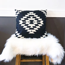 Boho Tribal Pillow Cover ~ Black/White Diamond