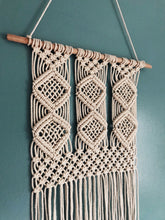 Authentic Handwoven Macramé ~ Diamond Tapestry A